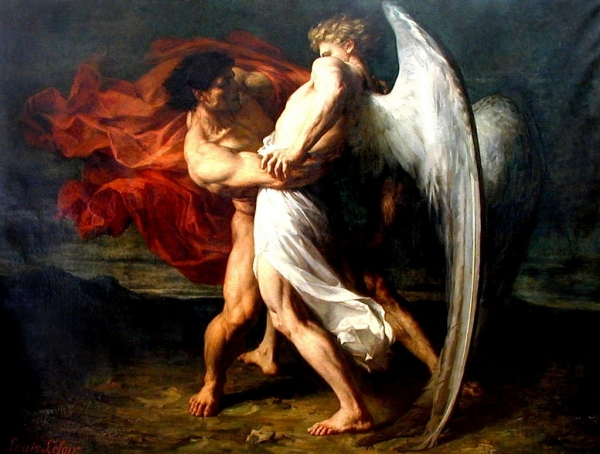 Alexandre Louis Leloir – Jacob wrestling with the angel