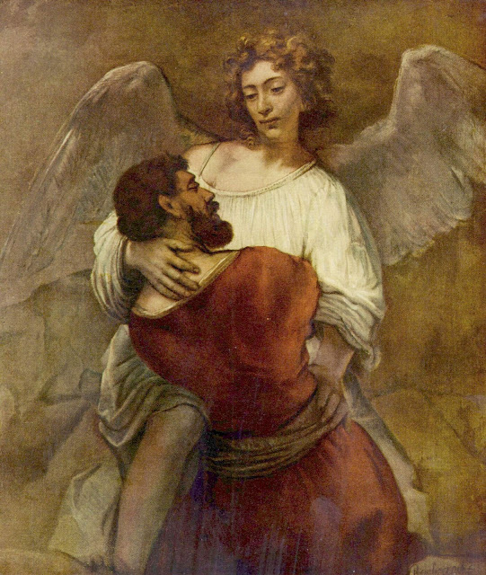 Rembrandt, Jacob Wrestling With The Angel